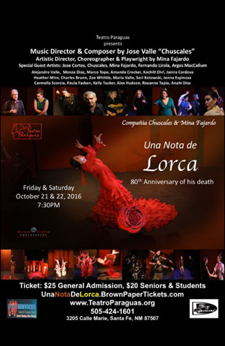 Una Nota de Lorca Oct. 21st & 22nd 2016