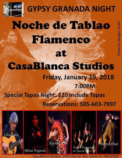 GYSPY GRANADA NIGHT! at CASABLANCA STUDIOS! Friday, January 19, 2018
