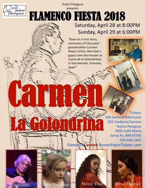 CARMEN LA GOLONDRINA Flamenco Fiesta at Teatro Paraguas 2018