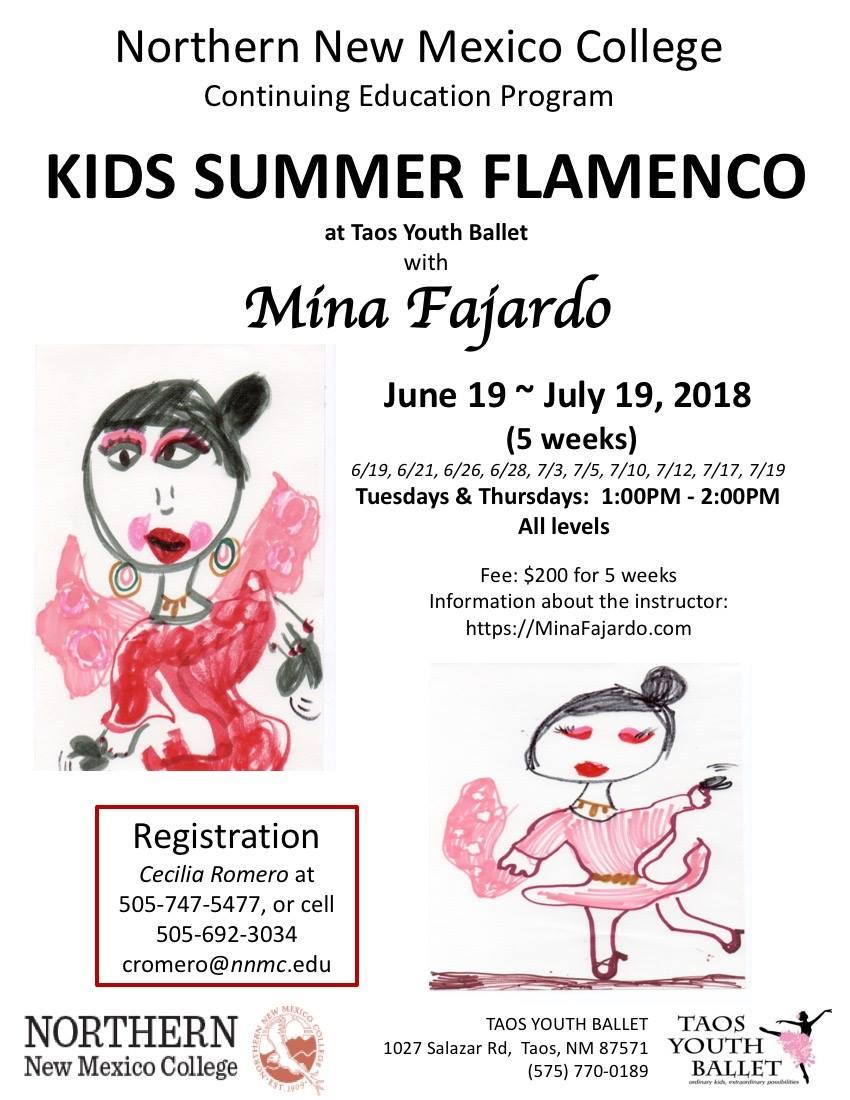 Flamenco classes for kids in Taos NM