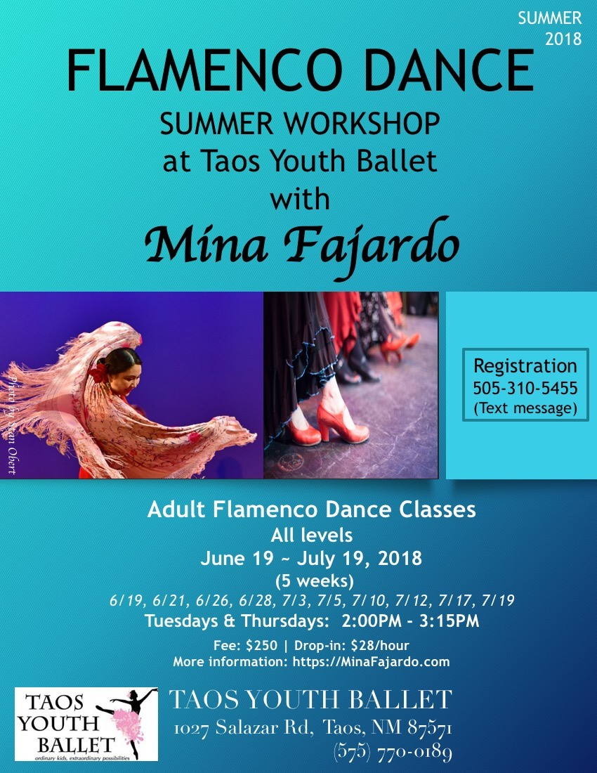 Taos Youth Ballet Flamenco Classes for adults