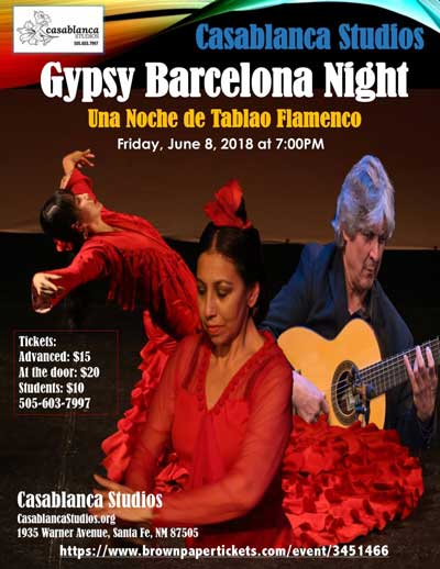 Gypsy Barcelona Night, June 8th 7:00 PM